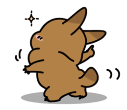 Rabbit's daily Stamp sticker #249010