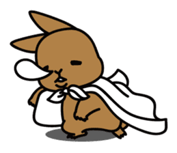 Rabbit's daily Stamp sticker #249016