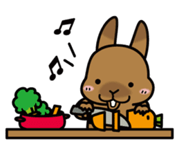 Rabbit's daily Stamp sticker #249017