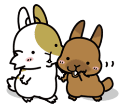 Rabbit's daily Stamp sticker #249019