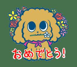 Cute dog stickers sticker #249488