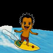 สติ๊กเกอร์ไลน์ Surfer COCO