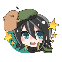 Military Girl with Haniwa-kun