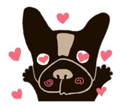 frenchbulldog P-chan sticker #258852