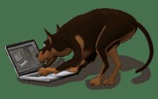 BILLY the dog sticker #258979