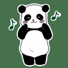 Chubby panda sticker #261145