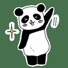 Chubby panda sticker #261146