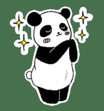 Chubby panda sticker #261147