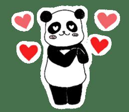 Chubby panda sticker #261148