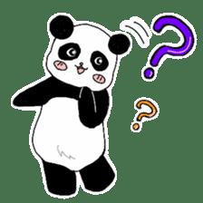 Chubby panda sticker #261149