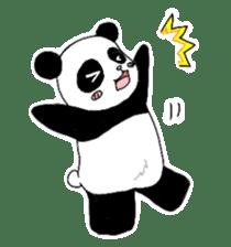 Chubby panda sticker #261150