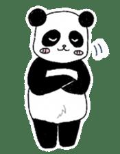 Chubby panda sticker #261151