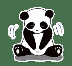 Chubby panda sticker #261152