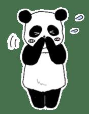 Chubby panda sticker #261153