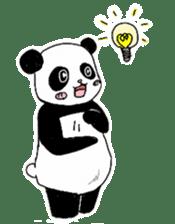 Chubby panda sticker #261156