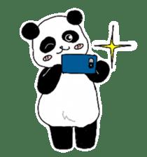 Chubby panda sticker #261157