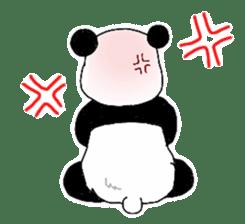 Chubby panda sticker #261158