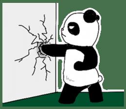 Chubby panda sticker #261159