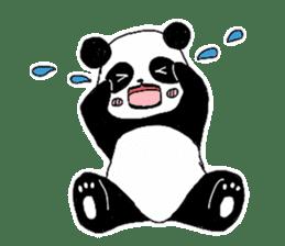 Chubby panda sticker #261161