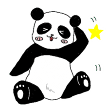 Chubby panda sticker #261162