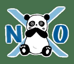 Chubby panda sticker #261164