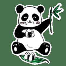 Chubby panda sticker #261166
