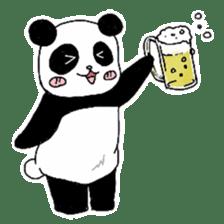 Chubby panda sticker #261167