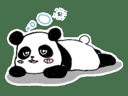 Chubby panda sticker #261170