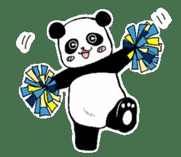 Chubby panda sticker #261171