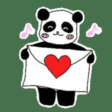 Chubby panda sticker #261172