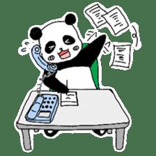 Chubby panda sticker #261175