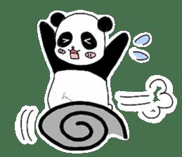 Chubby panda sticker #261176