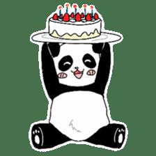 Chubby panda sticker #261178