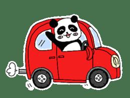 Chubby panda sticker #261180