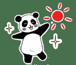 Chubby panda sticker #261181