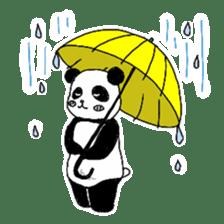 Chubby panda sticker #261182