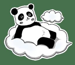 Chubby panda sticker #261183