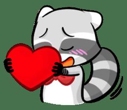 Rakkun : The Frisky Raccoon sticker #262106