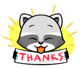Rakkun : The Frisky Raccoon sticker #262112