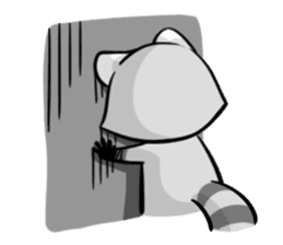 Rakkun : The Frisky Raccoon sticker #262124