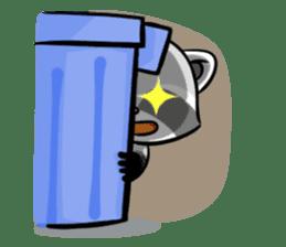 Rakkun : The Frisky Raccoon sticker #262129