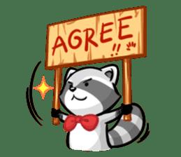 Rakkun : The Frisky Raccoon sticker #262137