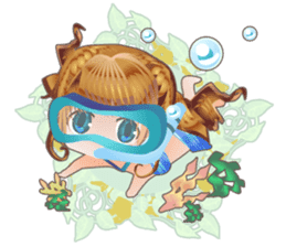 Princess's Happy Summer sticker #262348