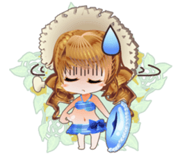 Princess's Happy Summer sticker #262350