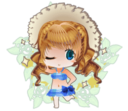 Princess's Happy Summer sticker #262354