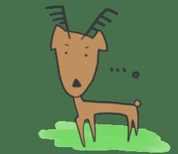 non-nervous animals sticker #265540