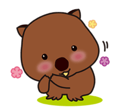 This is cute Wombat's Line Stamps! sticker #267466