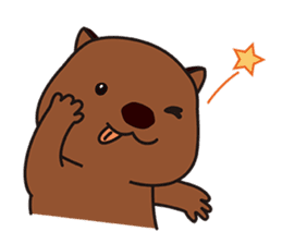 This is cute Wombat's Line Stamps! sticker #267468