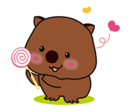 This is cute Wombat's Line Stamps! sticker #267475