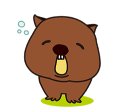 This is cute Wombat's Line Stamps! sticker #267477